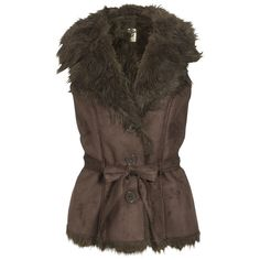 ICHI Waistcoat Tuka Brown (65 AUD) ❤ liked on Polyvore featuring outerwear, vests, jackets, coats, vest waistcoat, waistcoat vest, button vest, brown waistcoat and faux vest