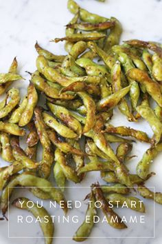 Roasted Edamame. It's a healthy, delicious snack that takes no time to make.