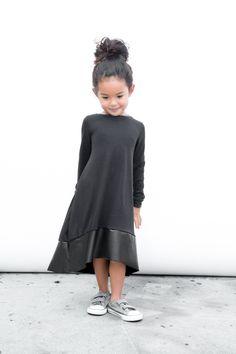 Black Bamboo Luxe Tee Dress