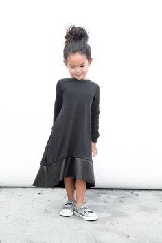 Black Bamboo Luxe Tee Dress