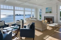 Waterfront renovation. Daniel Conlon Architects, Georgetown, CT. | Georgiana Design | Bloglovin'
