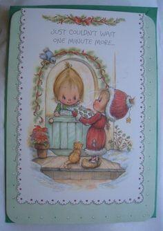 Vintage Hallmark BETSEY CLARK Christmas Full Size Greeting Card w/Envelope