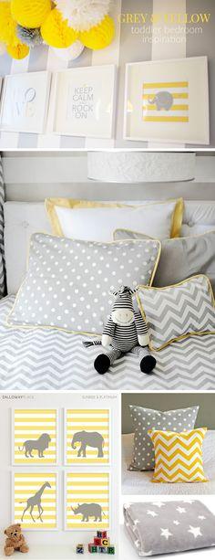 http://gymbunnymummy.com/2015/05/01/grey-yellow-toddler-bedroom-inspiration/ Grey & Yellow Toddler Bedroom Inspiration by Gym Bunny Mummy blog