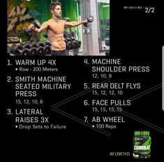 Daily Workouts, Workout Routines, Workout Ideas, Gym Workouts, Muscle Pharma, Musclepharm Workouts, Muscle Building Program, Face Pulls, Rear Delt