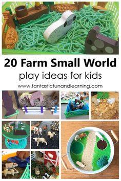 Bring the farm right to your table with a farm small world! Set these farm theme sensory play activities up for toddler and preschool pretend play. Farm Activities, Outdoor Activities For Kids, Preschool Activities, Preschool At Home, Preschool Themes, Toddler Preschool, Small World Play, Farm Theme, Toys For Girls