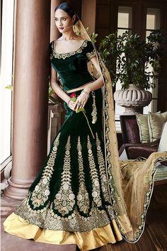 Beautiful green and cream colour lehenga