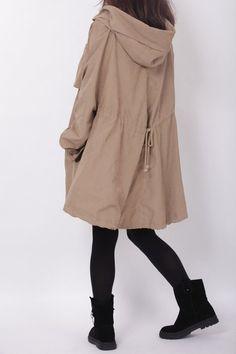 Hoodie Cape Windbreaker jacket by MaLieb on Etsy - StyleSays