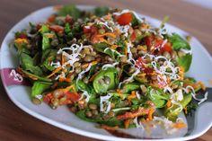 Studený šošovicový šalát - Powered by Bon Appetit, Veggies, Vegetable Recipes, Vegetables
