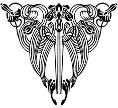 Art Nouveau Floral Designs 4 by neefer, via Flickr