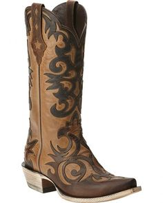 Ariat Sevilla Weathered Brown Boots - Snip Toe