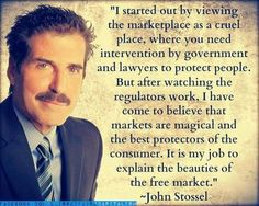 """""""Markets are magical."""" Apparently, nobody told John Stossel how magicians work: They appear to be doing one thing, but they're really doing something else."""