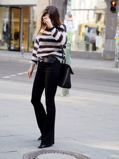look of the day black white stripes blogger style helloshopping vogue instyle elle madame flair cosmopolitan