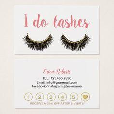 Lashes Makeup Artist Modern Eyelash Loyalty Business Card - makeup artist gifts style stylish unique custom stylist
