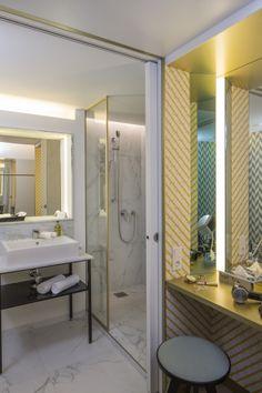 Bathroom in the double room comfort   http://www.falkensteiner.com/en/hotel/margareten/accommodation-vienna
