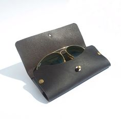 Sunglasses Leather Case Glasses Leather Case Black by Cocuan