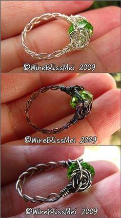 WireBlissMei: Braided Wire Ring #wireringshowtomake