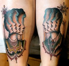 Illusion: Aron J. Dubois's tattoo designs have an old era feel with an eccentric twist to them.