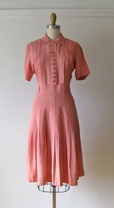 vintage 1940s dress / 40s dress / Rose of Sharon by Dronning, $88.00