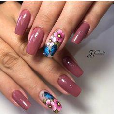 Clique na Foto e Receba + de 200 Ideias Internacionais de Unhas Pintadas. Flower Nails, Trendy Nails, Manicure And Pedicure, Nail Artist, Summer Nails, Nail Designs, Pretty, Beauty, Link