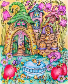 """Lora on Instagram: """"I'm crazy for fairy 🧚♂️ houses but is this a bugs home? 😃 well I love these macaroon luvin' bugs. From Klara Markova's new book Fairy…"""""""