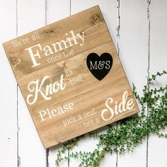 Wedding Seating Signs, Wooden Wedding Signs, Wedding Ceremony, Rustic Wedding, Wedding Day, Welcome To Our Wedding, Wedding In The Woods, Pick A Seat, Wedding Breakfast