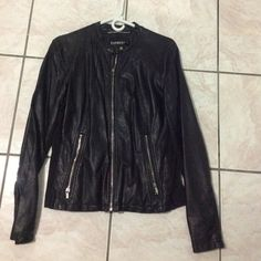Express womens jacket Used, great condition, minus leather jacket, size large Express Jackets & Coats