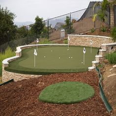 Chip & Put Backyard Golf Practice Green by Sport Court - Sports Public Golf Courses, Best Golf Courses, Backyard Sports, Backyard Putting Green, Cheap Golf Clubs, Golf Apps, Golf Pride Grips, Golf Green, Golf Putting Tips