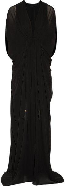 GUCCI Draped Silk-georgette Gown - Lyst