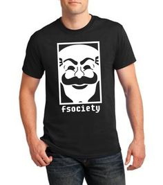 Newest 2017 men's fashion Mens Mr. Robot funny Evil Corp Fsociety T-Shirt Mr Robot TV Show Hacker Mask Computer Programmer Gamer