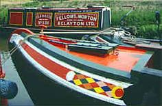 Narrowboat decorated fore end