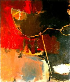 Richard Diebenkorn, Untitled, oil on canvas, 48 x 41 in. Richard Diebenkorn, Abstract Landscape, Abstract Art, Abstract Paintings, Arthur Dove, Bay Area Figurative Movement, Robert Rauschenberg, Willem De Kooning, Edward Hopper