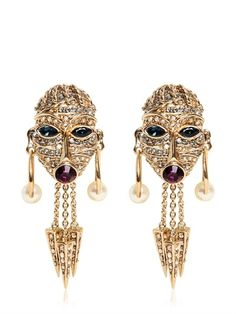 ROBERTO CAVALLI - SWAROVSKI TALISMAN EARRINGS