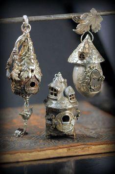Christi Anderson: birdhouse pendants