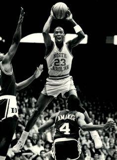 Former UNC basketball player, Michael Jordan. Jordan 23, Michael Jordan Unc, Jeffrey Jordan, Michael Jordan Basketball, Love And Basketball, College Basketball, Michael Jordan North Carolina, Nike Basketball, Basketball Legends