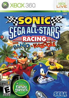 """Sonic & Sega All-Stars Racing. If you want a game similar to Nintendo's famous """"Mario Kart"""" but for Xbox, this is the game you need to invest in. Mario Kart, Nintendo Switch, Nintendo Ds, Battlefield 3, Playstation, Microsoft, Xbox 360 Games, Xbox Games, God Of War"""