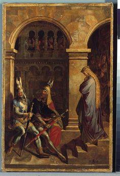 Hagen refuse le salut à Kriemhild Schnorr von Carolsfeld Julius Veit Hans (1794-1872)  http://www.photo.rmn.fr/CorexDoc/RMN/Media/TR1/76ZXAM/09-526528.jpg