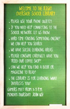 Doug Johnson Website - dougwri - Signs of a welcoming library
