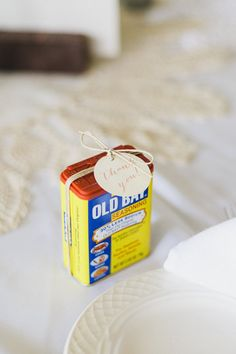 Old Bay Wedding Favors! Such a cute idea for an Eastern Shore wedding {Photo by Krista A. Jones Photography via Project Wedding}