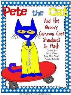 Mrs. Miner's Kindergarten Monkey Business: Some GROOVY Pete the Cat Freebies