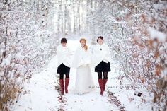 Winter wedding photography ideas!