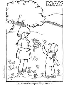 Free Spring coloring page