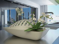 Smart Design of Dish Drying Rack with Planters