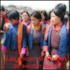 """EN EL BUTÁN LAS CHICAS NO SON FEAS:   en el Bután, país del Himalaya apartado del mundo hasta hace poco, ha llegado la tele y desde entonces se ha creado un problema sociológico: antes la mujer ideal del hombre era trabajadora, fuerte, confiable, sostén de su familia, buena madre; poco importaba figura y vestimenta (casi diría """"bíblica"""" no fuera porque allí practican el budismo). El caso es que han visto pasarelas con… (Ver más ➦)…"""