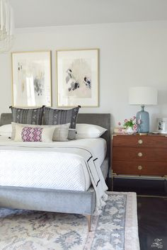 One Room Challenge Master Bedroom Reveal - ZDesign At Home - Transitional Modern Bedroom Home Decor Bedroom, Bedroom Furniture Sets, Bedroom Decor, Bedroom Colors, Painted Bedroom Furniture, Farmhouse Bedroom Decor, Bedroom Sets, Modern Bedroom, Home Decor