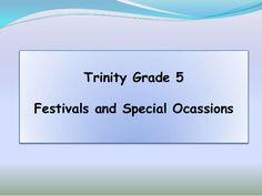 1 & 3 tg5 - fetivals and special ocassions
