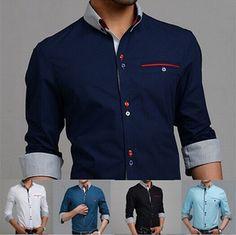 blue striped shirt outfit men
