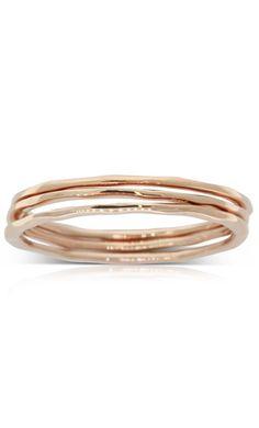 Boh Runga Lil 3 Stack ring set - rose gold Rings N Things, Bangles, Bracelets, Stacking Rings, Gold Rings, Mint, Wedding Rings, Rose Gold, Jewellery