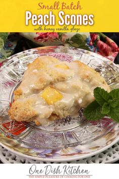 Kitchen Dishes, Kitchen Recipes, Food Dishes, Cooking Recipes, Cooking For One, Meals For One, Peach Scones, Recipe For 1, Savory Scones