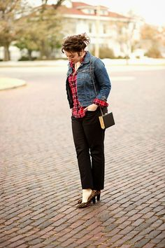 I absolutely love throwing on a great pair of jeans and a denim jacket for a casual workplace look!