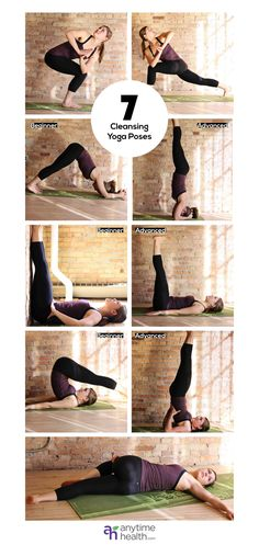 7 Cleansing Yoga Poses to Detoxify Your Body...hmmm well the head stand would really be the only difficult one since I have -0 strength in my arms.